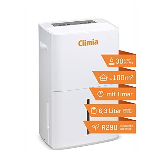 Climia CTK 240 elektrischer Bautrockner mit ökologischem Kühlmittel, Luftentfeuchter (max. 30 l/Tag) geeignet für Räume bis 230 m3